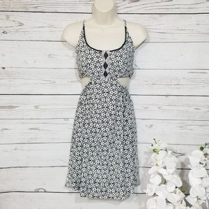 Skemo Anthropologie Strapless Cut Out Dress